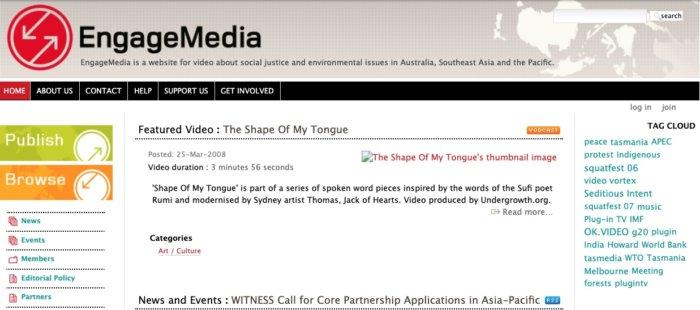EngageMedia Website Apr 2008