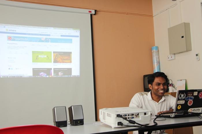 Seelan Palay presenting at a Lingua training in Kuala Lumpur.