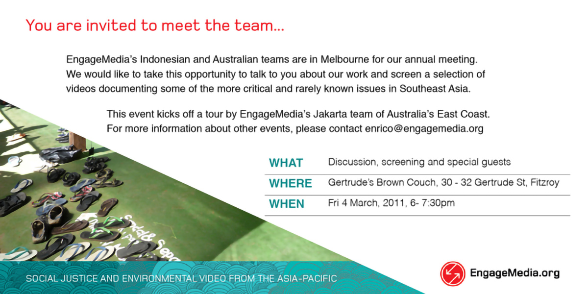 EM- Invitation March 4, 2011, Melbourne, Australia