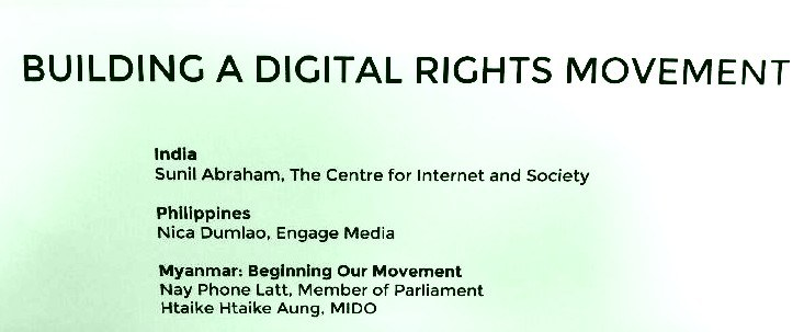 Launching a Digital Rights Agenda for Myanmar