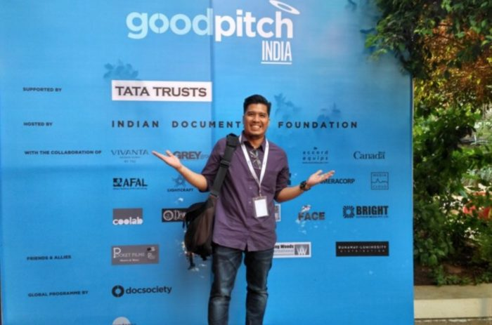 King Catoy, Video For Change Coordinator, at the Good Pitch India 2018 summit held in Mumbai, India.