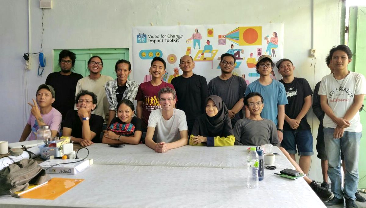The launch of the Indonesian version of the Video For Change Impact Toolkit in Yogyakarta.