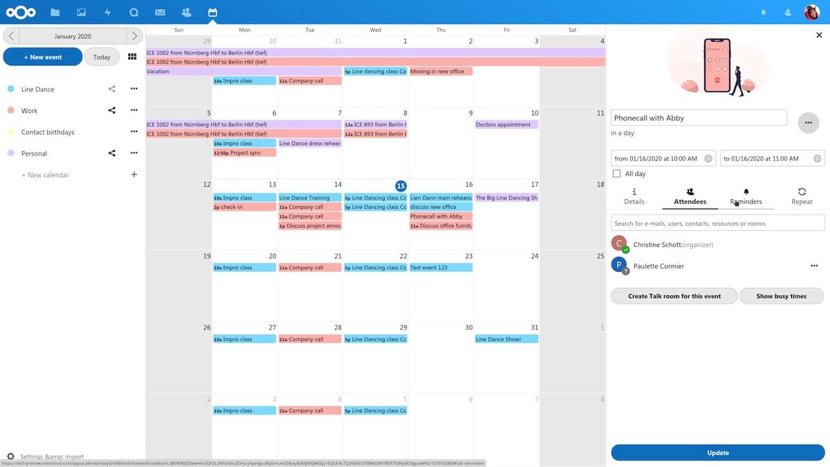 Screenshot from Nextcloud website.