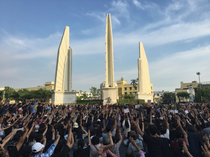 Thailand Protest Democracy Monument