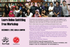 Learn Online Subtitling (Free Workshop in KL)