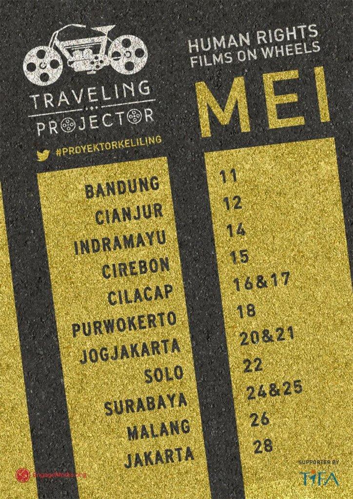 Traveling Projector schedule