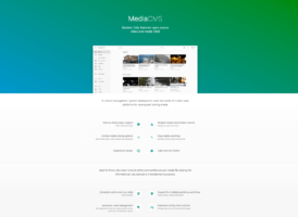 screenshot of MediaCMS brochure site