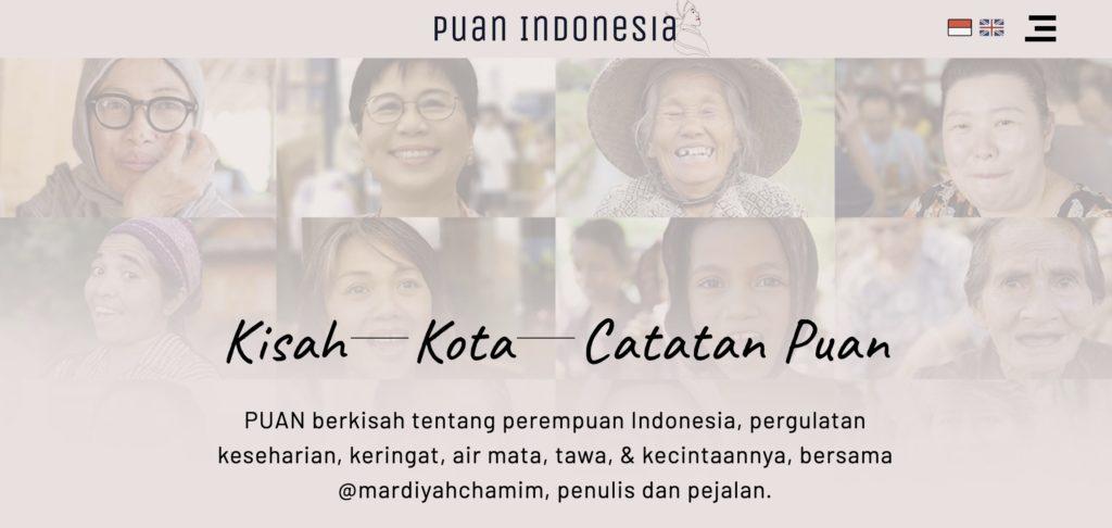Screenshot from Puan Indonesia Website