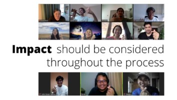 Still from Impact Lab Session#10, discussing Impact Evaluation.